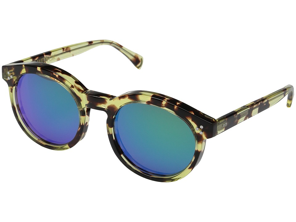 Wildfox Harper Deluxe Amber Tortoise/Green Mirror Fashion Sunglasses
