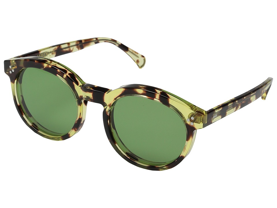 Wildfox Harper Amber Tortoise/Bottle Green Fashion Sunglasses