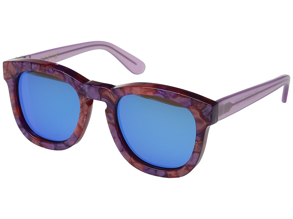 Wildfox Classic Fox Deluxe Wildflower/Blue Mirror Fashion Sunglasses