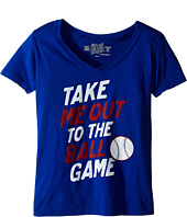 The Original Retro Brand Kids - Take Me Out To The Ballgame V-Neck Tee (Little Kids/Big Kids)