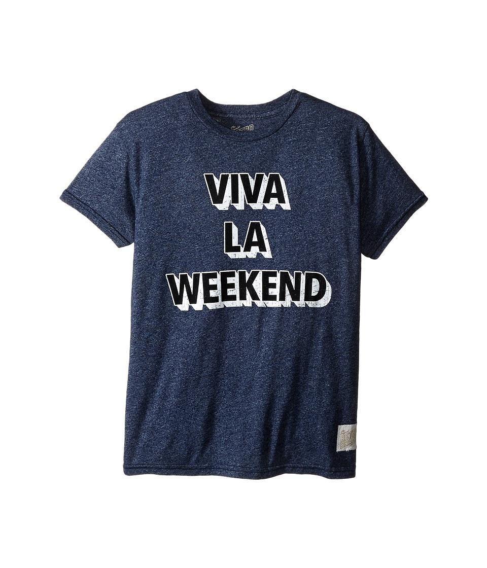 The Original Retro Brand Kids Viva La Weekend Short Sleeve Mock Twist Tee Little Kids/Big Kids Mock Twist Navy Boys T Shirt