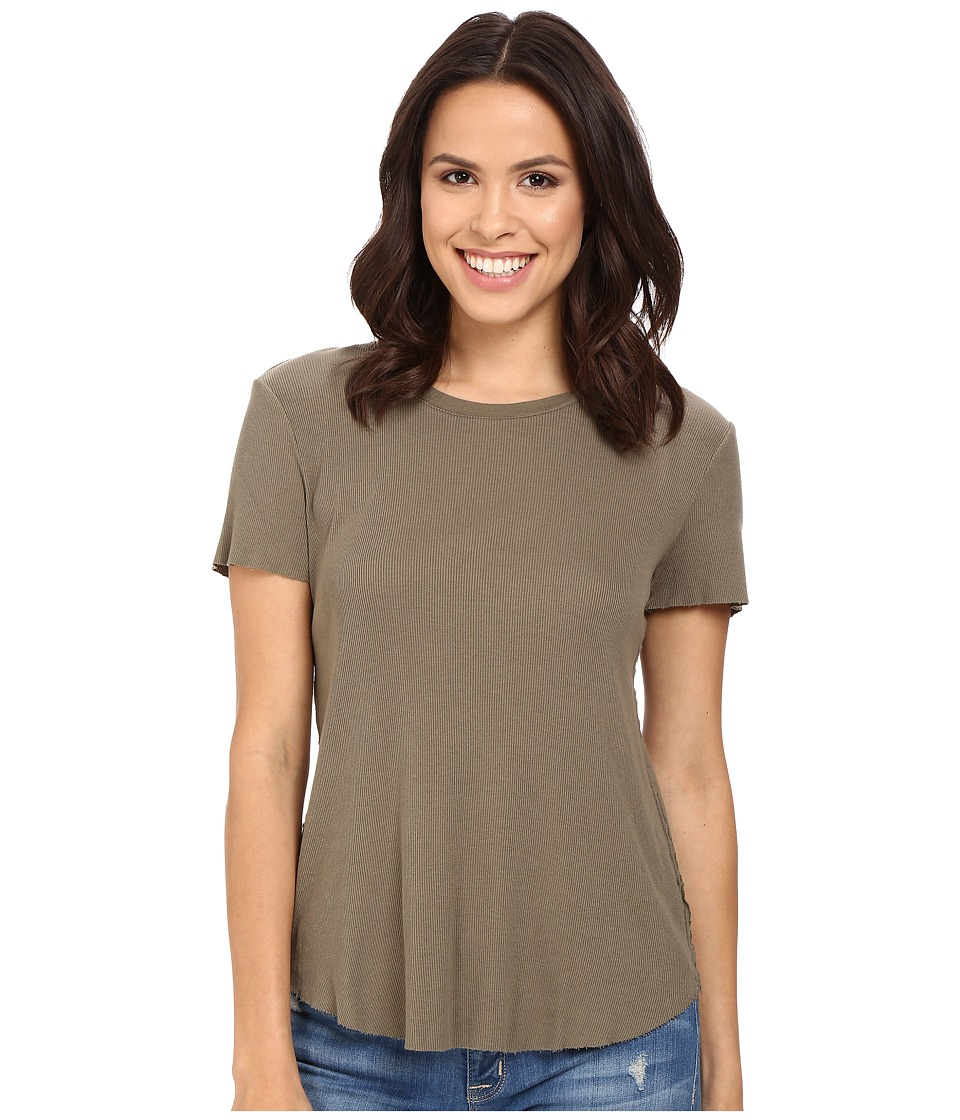 Splendid - 2x1 Fitted Tee (Military Olive) Women