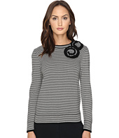 Kate Spade New York - Rosette Stripe Sweater