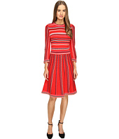 Kate Spade New York - Scallop Stripe Knit Dress