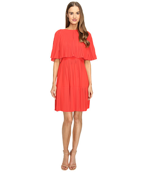 Kate Spade New York Pleated Cape Dress