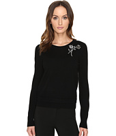 Kate Spade New York - Embellished Brooch Sweater