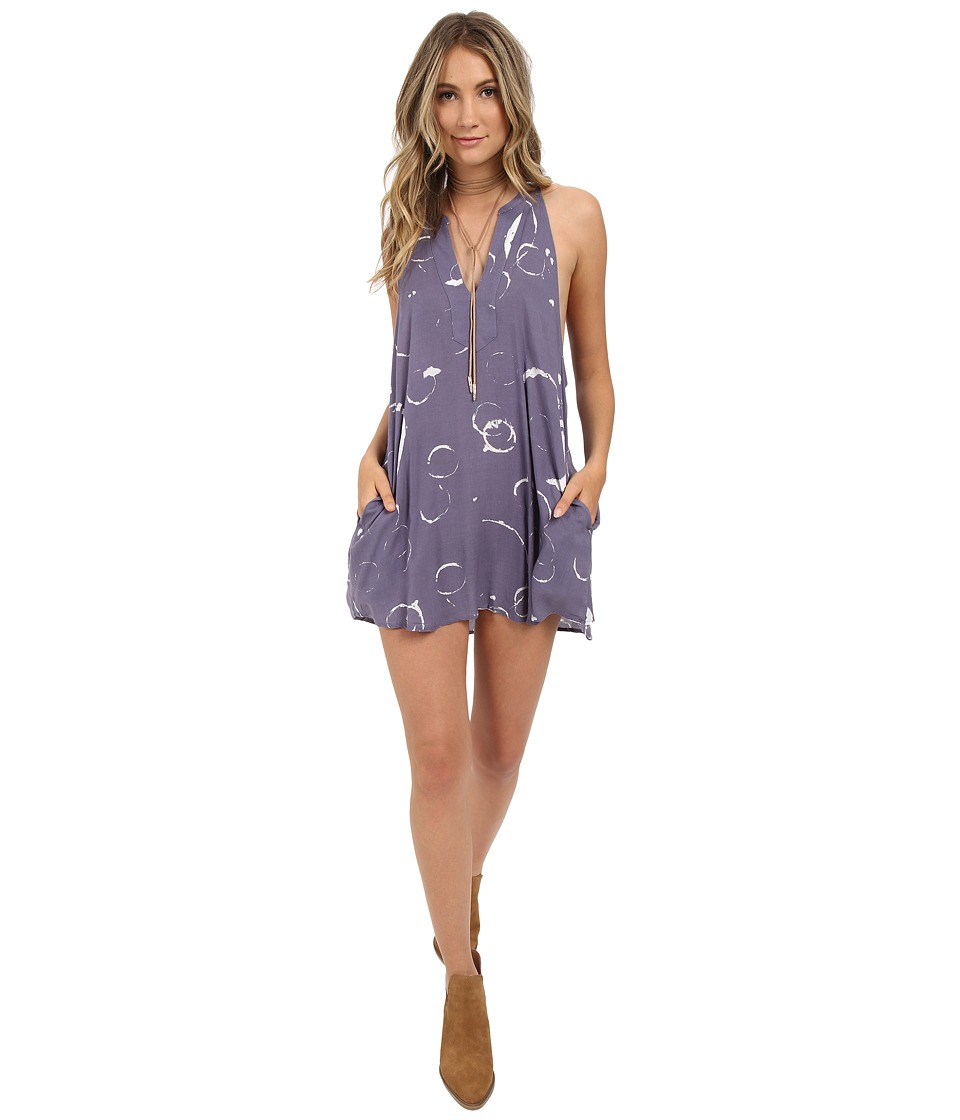 Obey Capricorn Dress Blue Multi Womens Dress