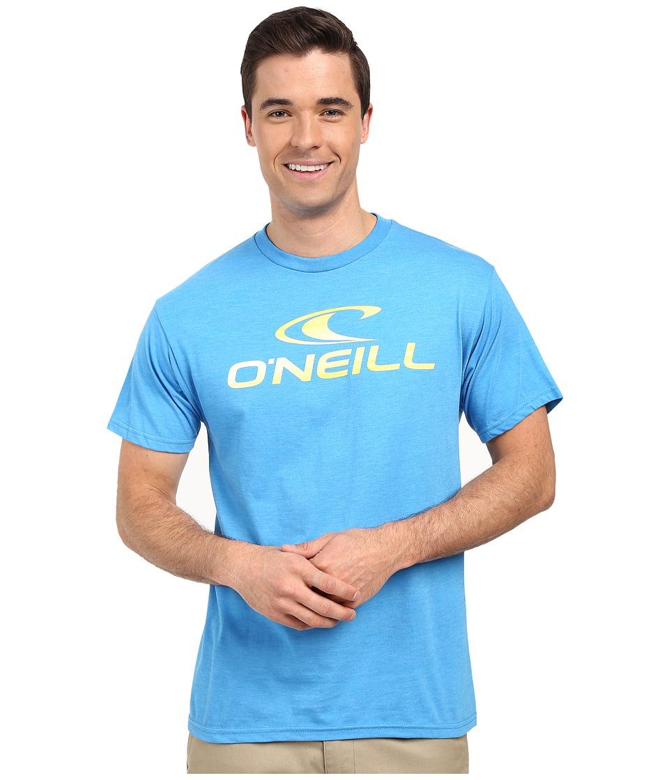 ONeill Runner Short Sleeve Screen Tee Brilliant Blue Mens Short Sleeve Pullover