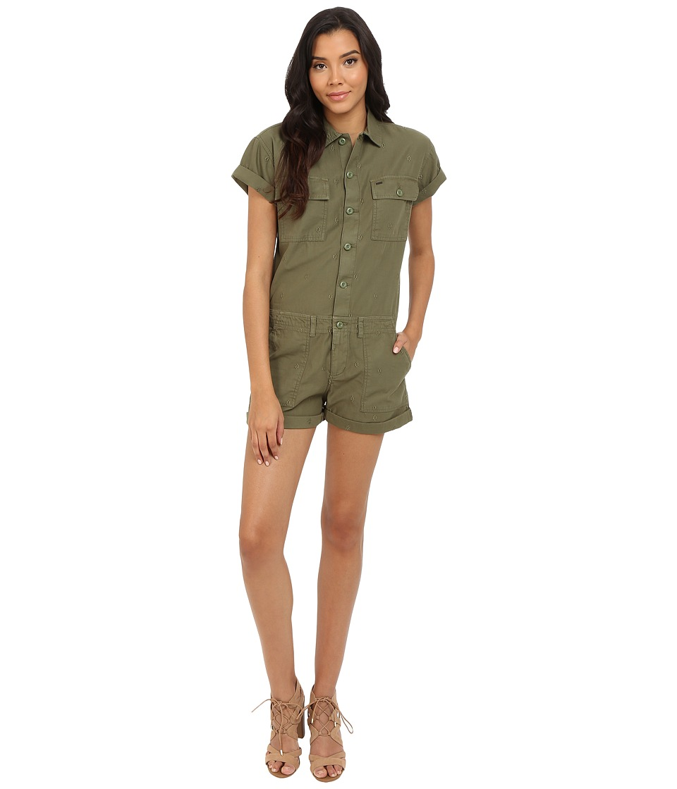 Obey Raleigh Romper Army Womens Jumpsuit Rompers One Piece