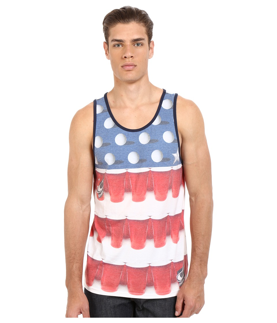 ONeill Beerpong Tank Top White Mens Sleeveless
