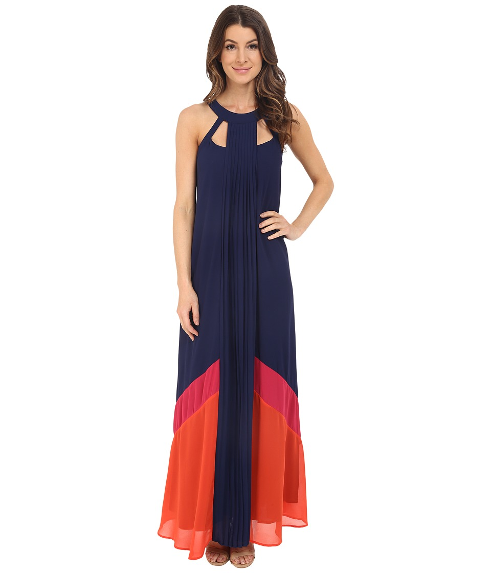 Adelyn Rae Color Block Maxi Dress Navy Womens Dress
