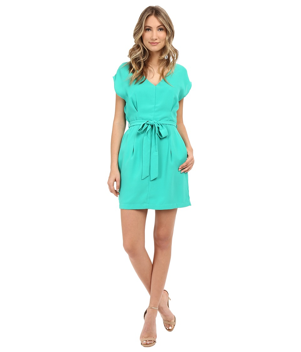 Adelyn Rae Tie Waste Shirt Dress Mint Womens Dress