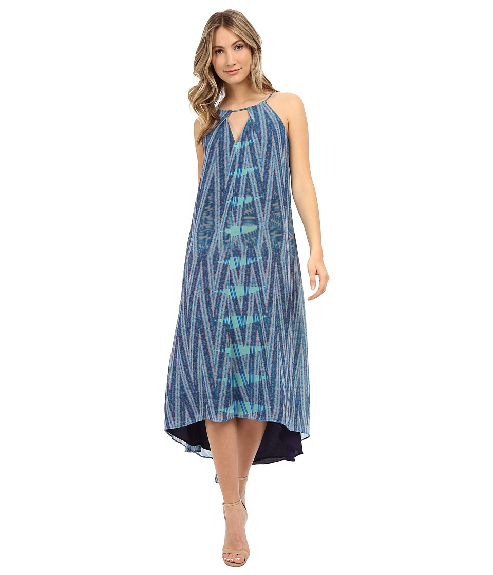 Adelyn Rae Printed Keyhole Maxi Dress Blue Multi Womens Dress