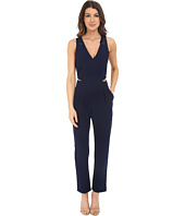 Adelyn Rae - Jumpsuit w/ V-Neck and Side Cut Outs