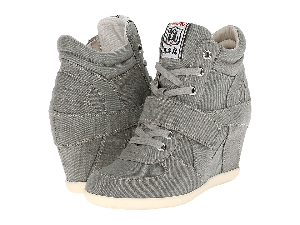 ASH Bowie Grey Womens Lace up casual Shoes
