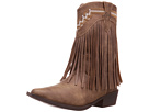 Roper Kids Fringes (Toddler/Little Kid) (Brown Faux Leather/Vamp Fringe Shaft)