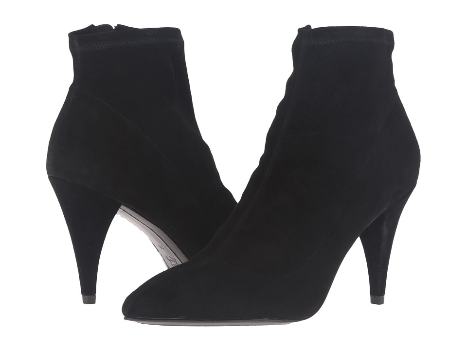 Image of Alice + Olivia - Camryn (Black Stretch Suede) Women's Shoes
