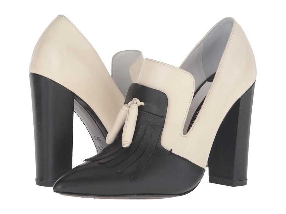 Image of Alice + Olivia - Cade (Black/Bone Fine Calf) Women's Shoes