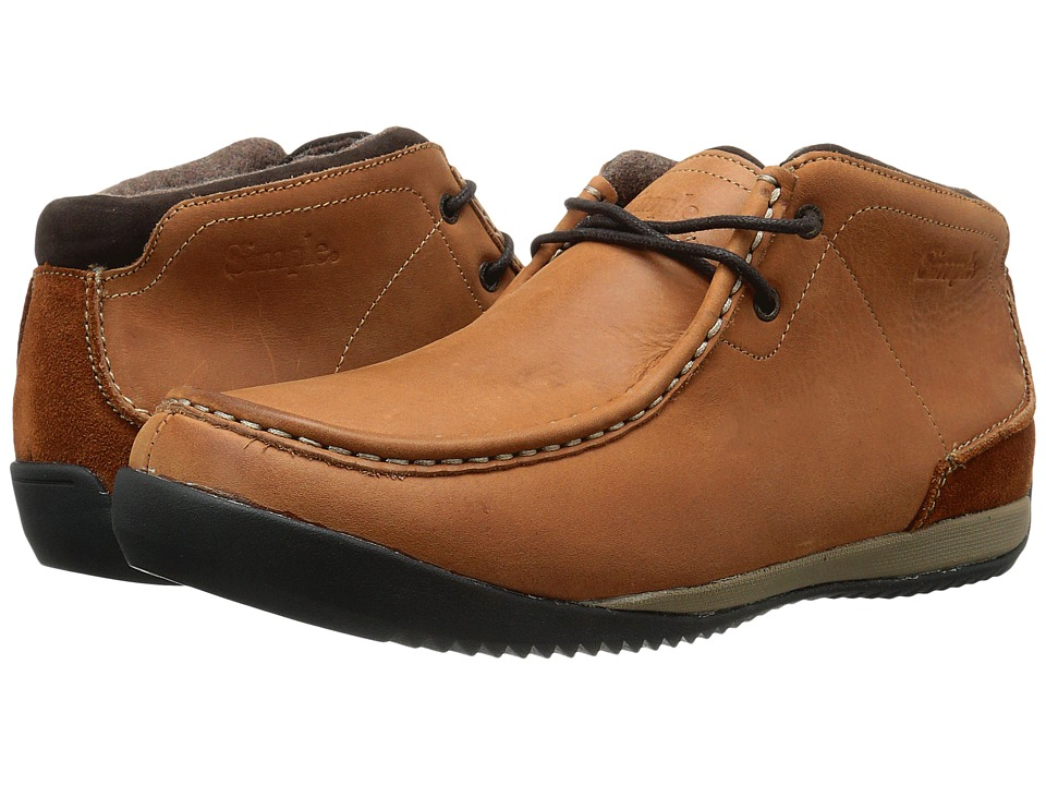 Simple Allagash Brown Leather Mens Shoes