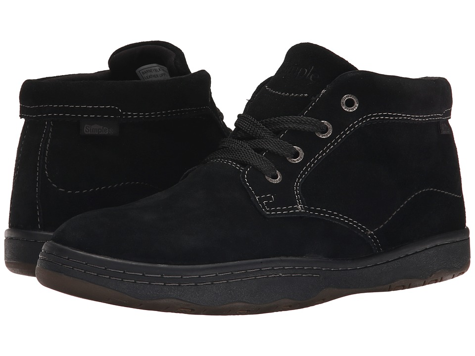 Simple Barney (Black Suede) Men