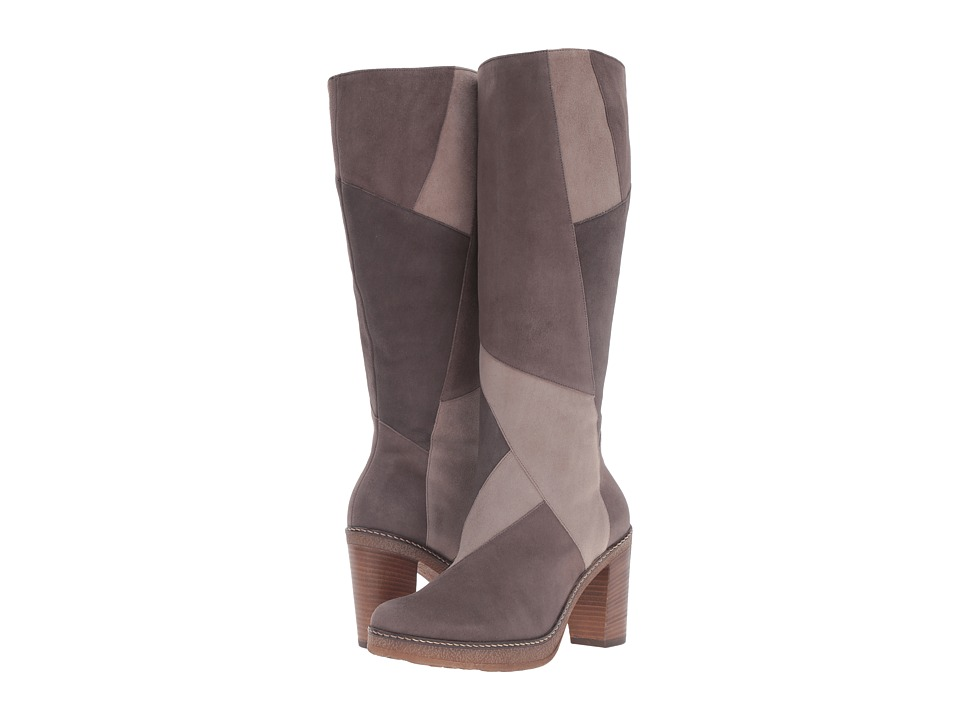 Vintage Style Boots Gabor - Gabor 55.727 Medium TaupeTanGrey Samtchevreau Womens Dress Pull-on Boots $295.00 AT vintagedancer.com