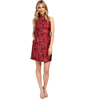 Aidan Mattox - Mock Neck Lurex Jacquard Cocktail Dress