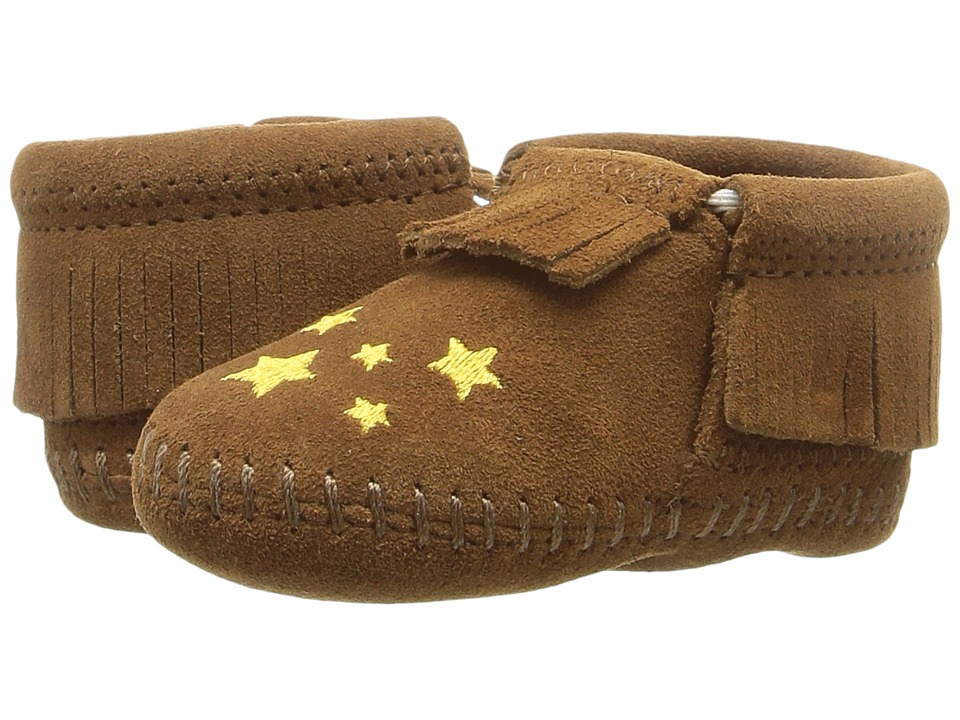 Minnetonka Kids - Riley (Infant/Toddler) (Brown) Kids Shoes