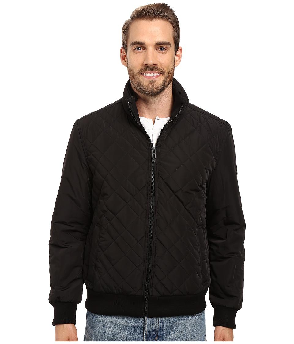 Calvin Klein - Quilted Bomber (Black) Men's Coat