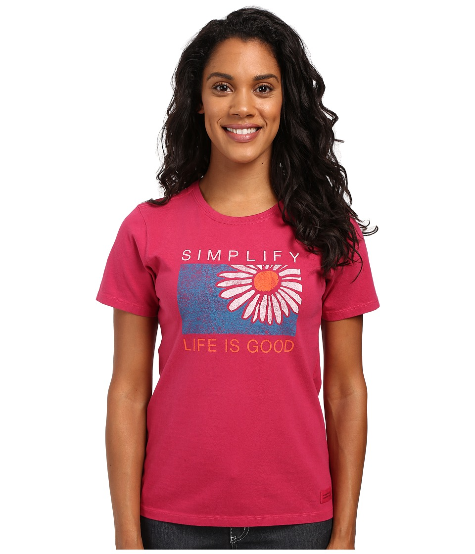 Life is good - Simplify Daisy Crusher Tee (Rose Berry) Women