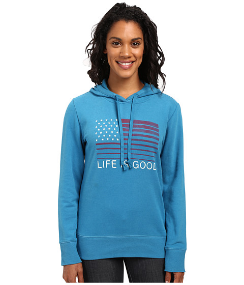 Life is good Flag Stripe Go-To Pullover Hoodie