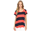 Stripe Short Sleeve Scoop Tee