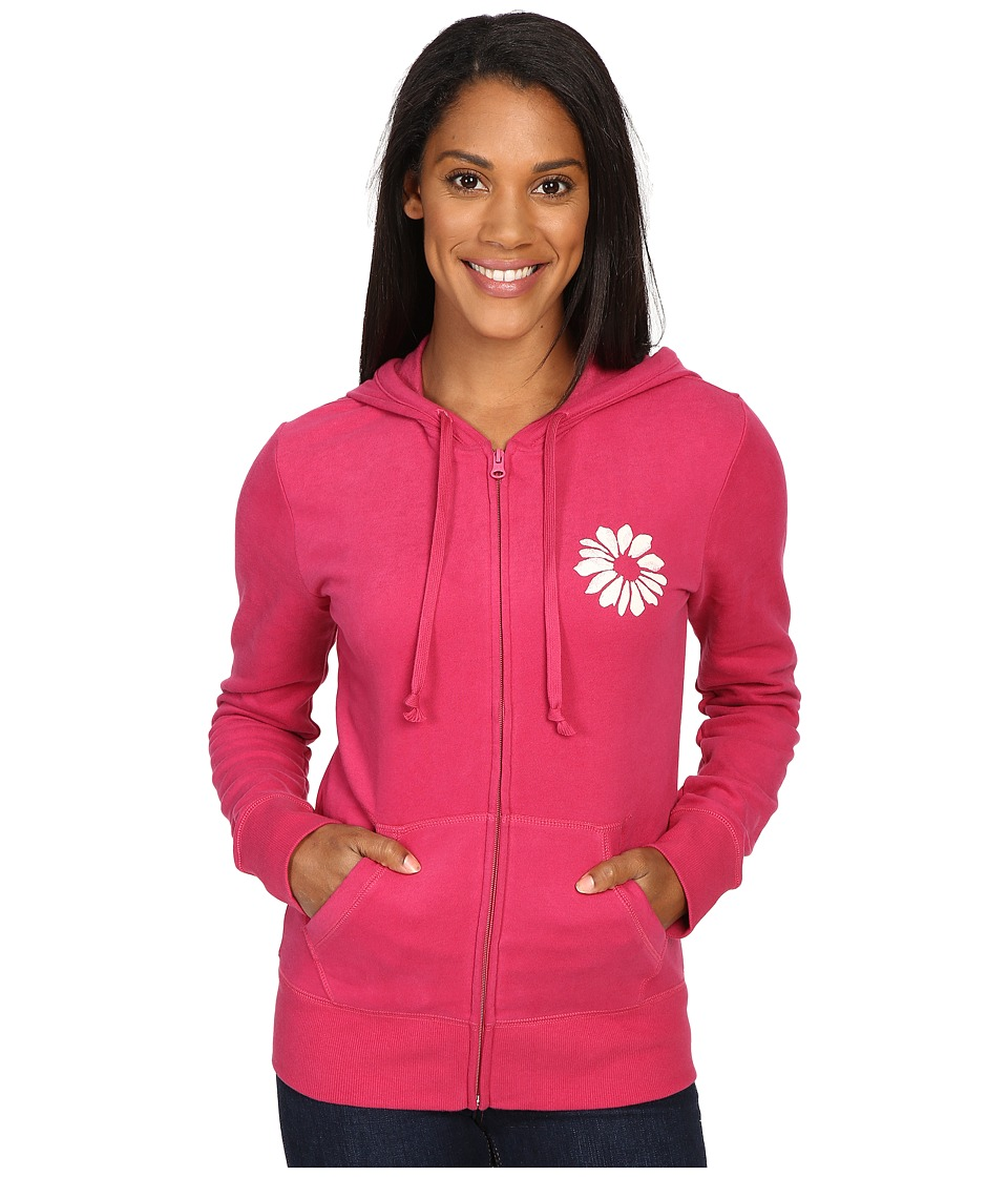 Life is good Keep It Simple Daisy Go-To Zip Hoodie (Rose Berry) Women
