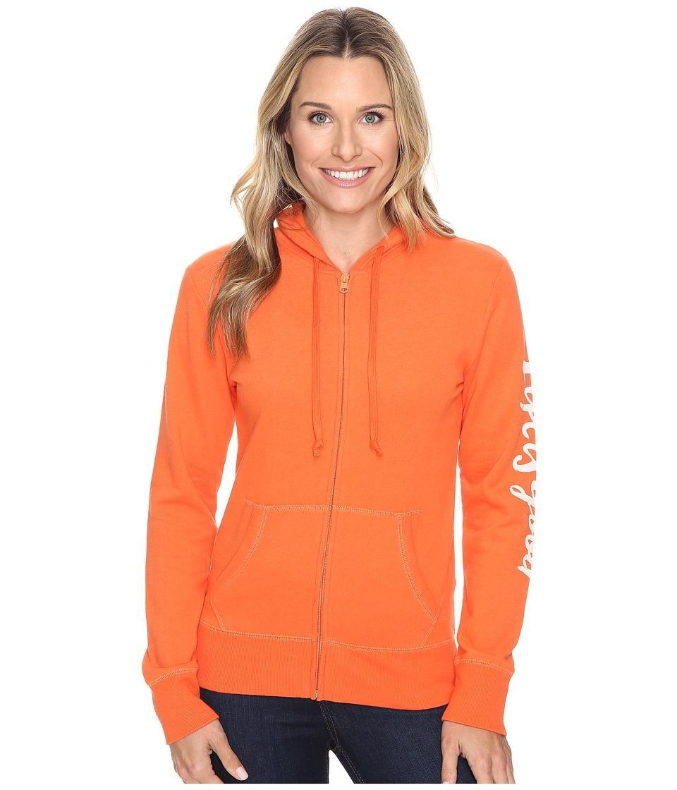 Life is good Life is Good Painted Go-To Zip Hoodie (Coral Orange) Women