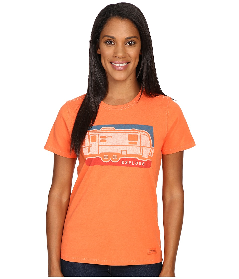 Life is good Explore Airstream Crusher Tee (Coral Orange) Women