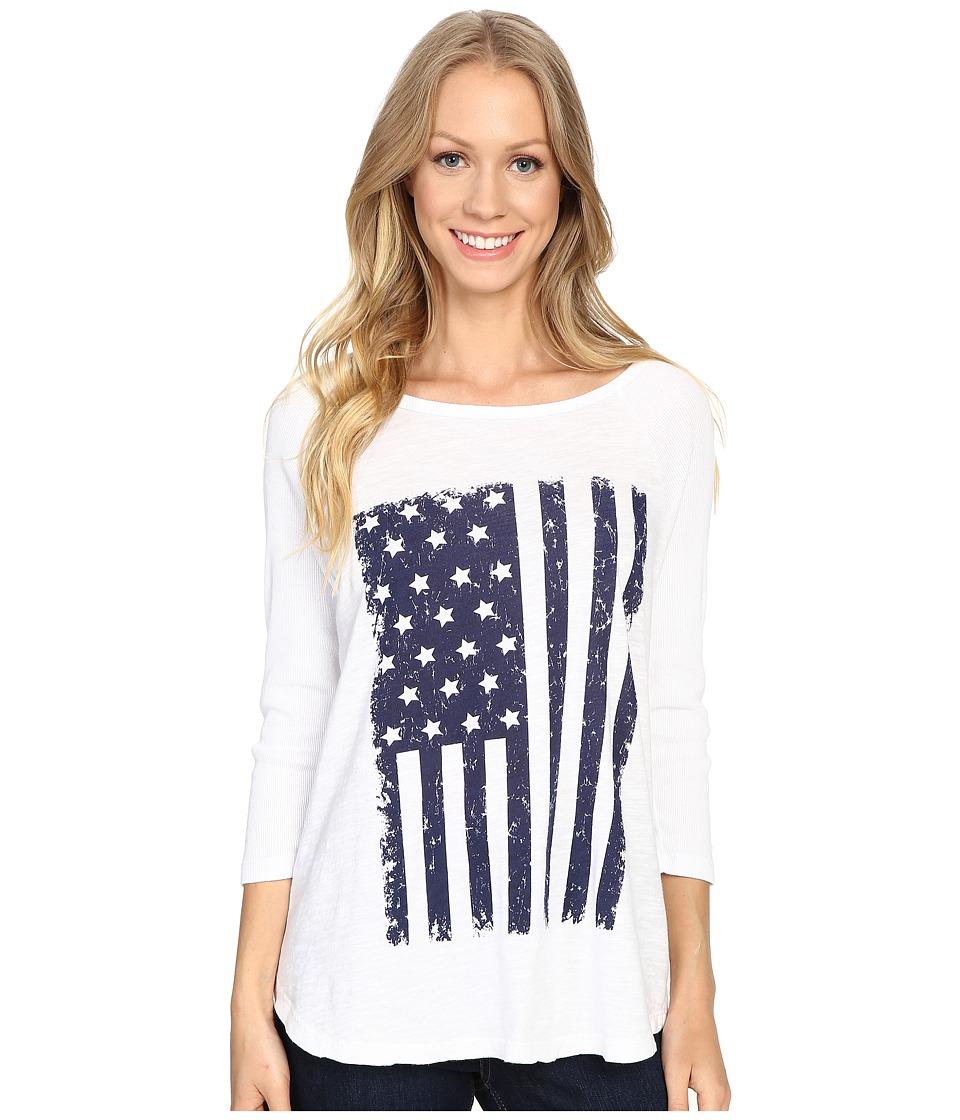 Allen Allen - White Tee w/ Flag (White) Women