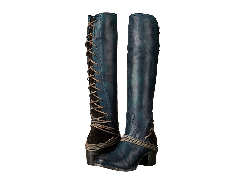Freebird Coal (Navy Leather) Cowboy Boots