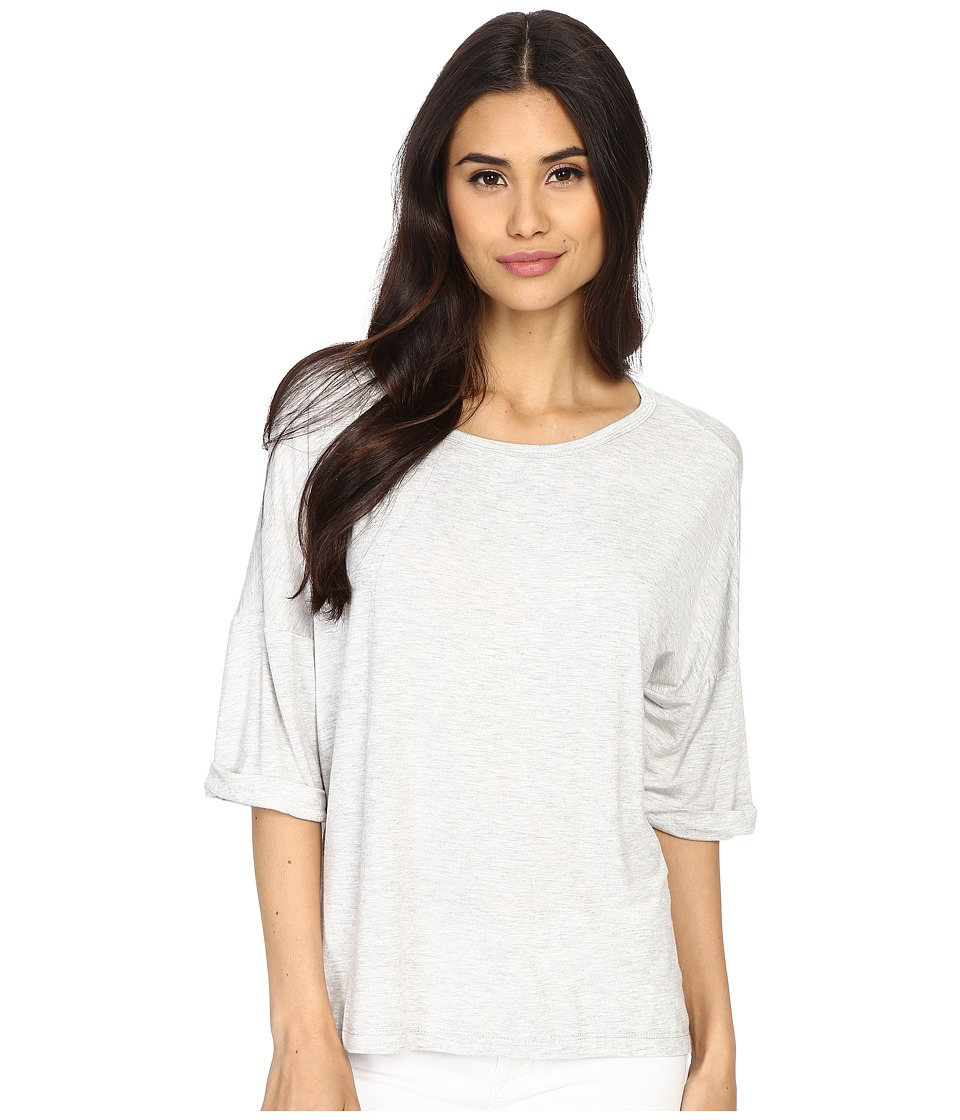 Culture Phit Affinity 3/4 Sleeve Comfy Top Light Grey Womens Clothing