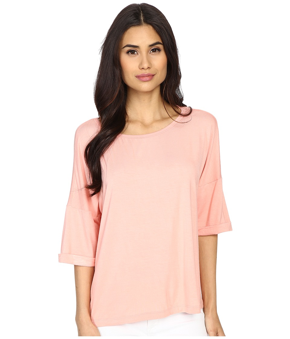Culture Phit Affinity 3/4 Sleeve Comfy Top Blush Womens Clothing