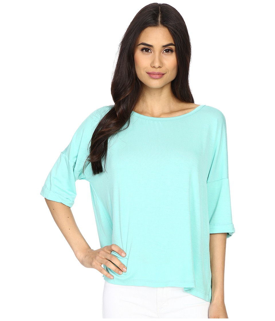 Culture Phit Affinity 3/4 Sleeve Comfy Top Seafoam Womens Clothing
