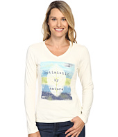 Life is good - Optimistic By Nature Long Sleeve Crusher Vee