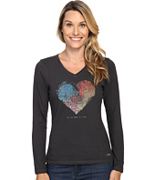 Life is good - All We Need Is Love Long Sleeve Crusher Vee