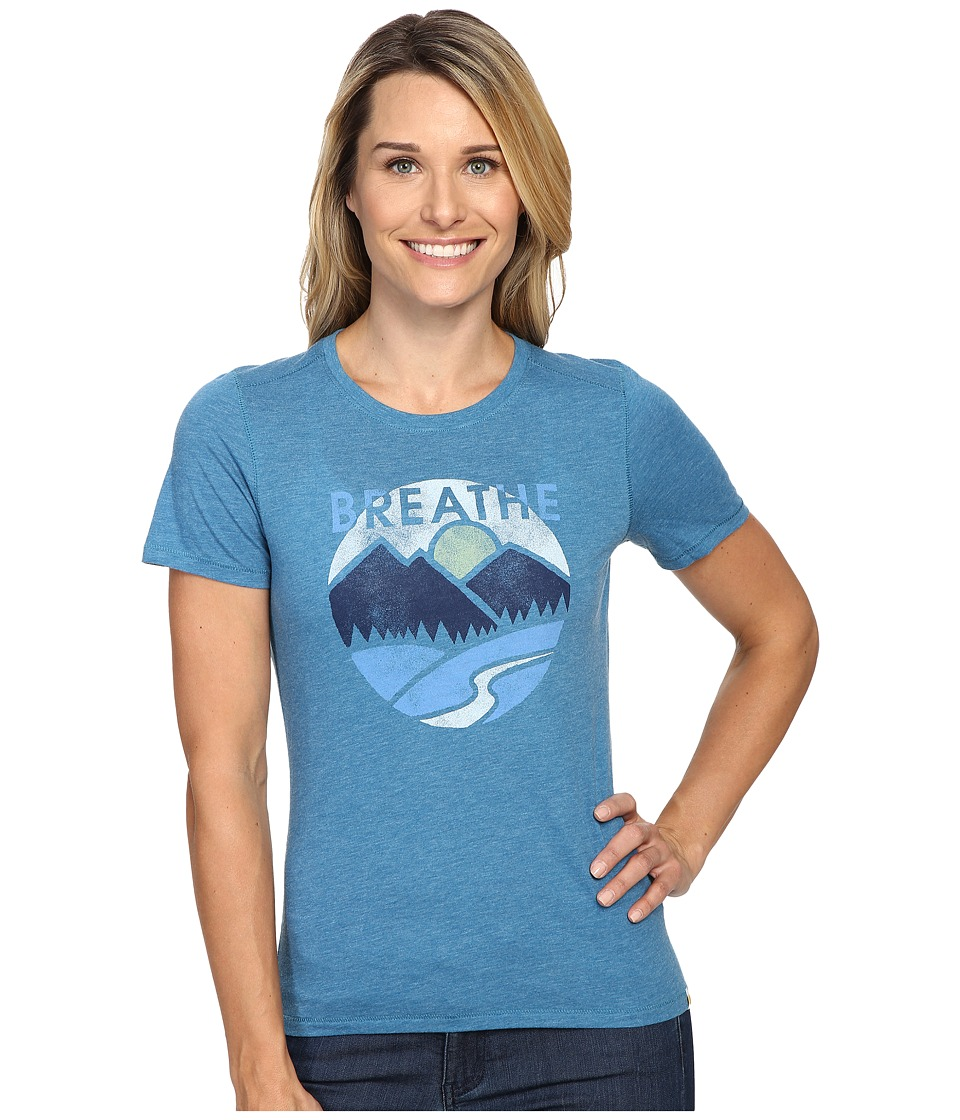 Life is good Breathe Mountains Cool Tee (Denim Blue) Women