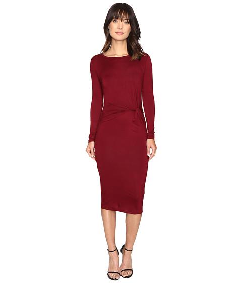 Brigitte Bailey Benicia Long Sleeve Dress - Burgundy