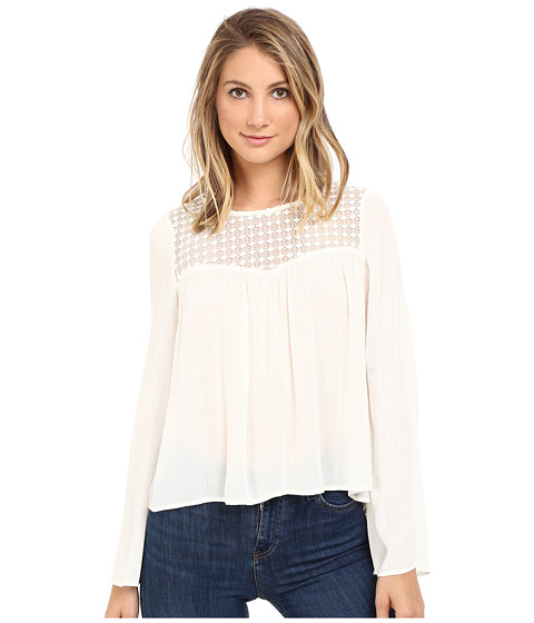 Brigitte Bailey Cyra Long Sleeve Top - Vanilla