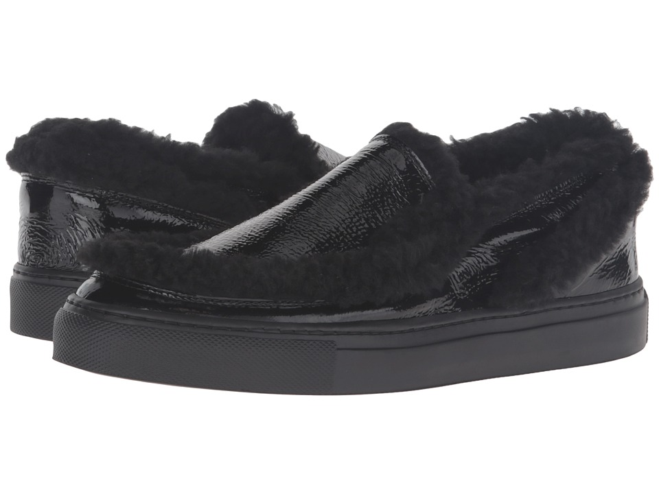 MM6 Maison Margiela - Shearling Trim Sneaker (Black/Black Teddy) Women's Shoes