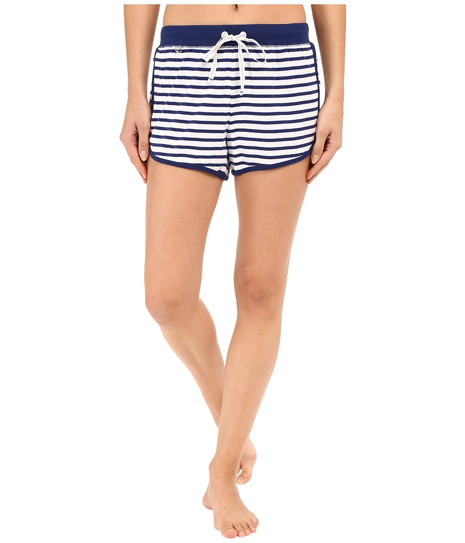 Jane amp Bleecker Rib Shorts 3571152 Blue Stripe Womens Pajama
