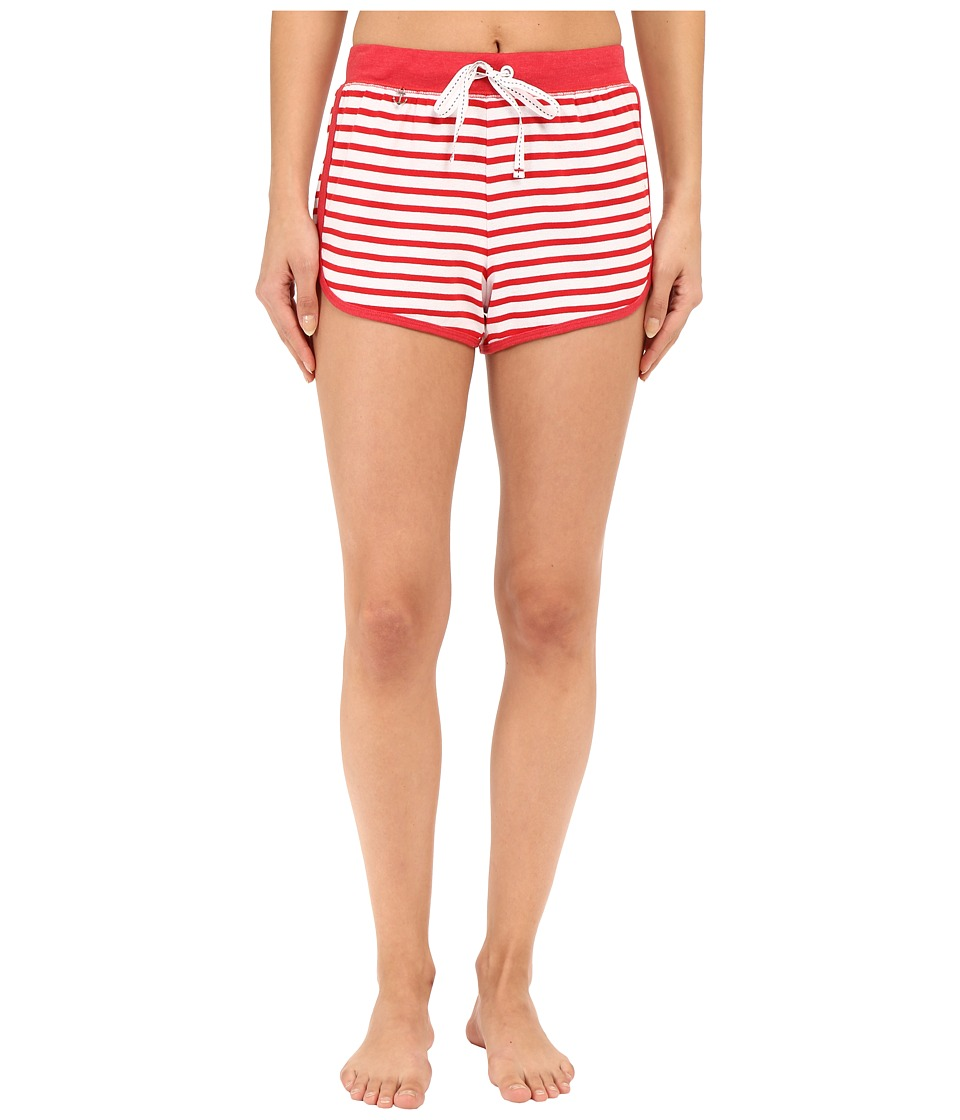 Jane amp Bleecker Rib Shorts 3571152 Red Stripe Womens Pajama