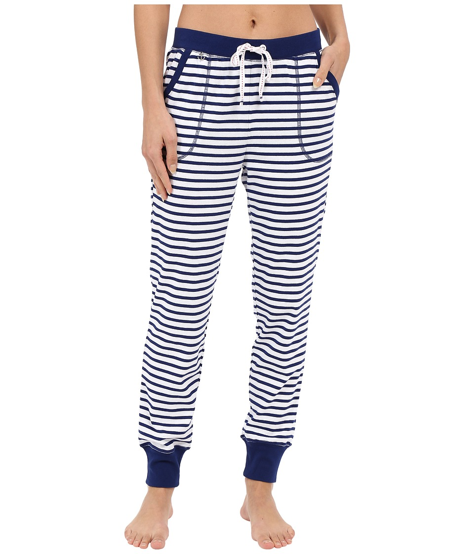 Jane amp Bleecker Rib Pants 3581152 Blue Stripe Womens Pajama