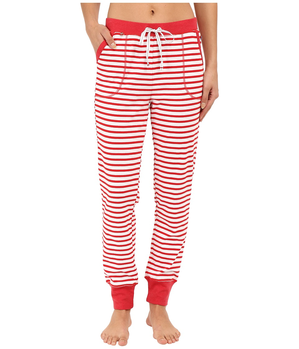 Jane amp Bleecker Rib Pants 3581152 Red Stripe Womens Pajama
