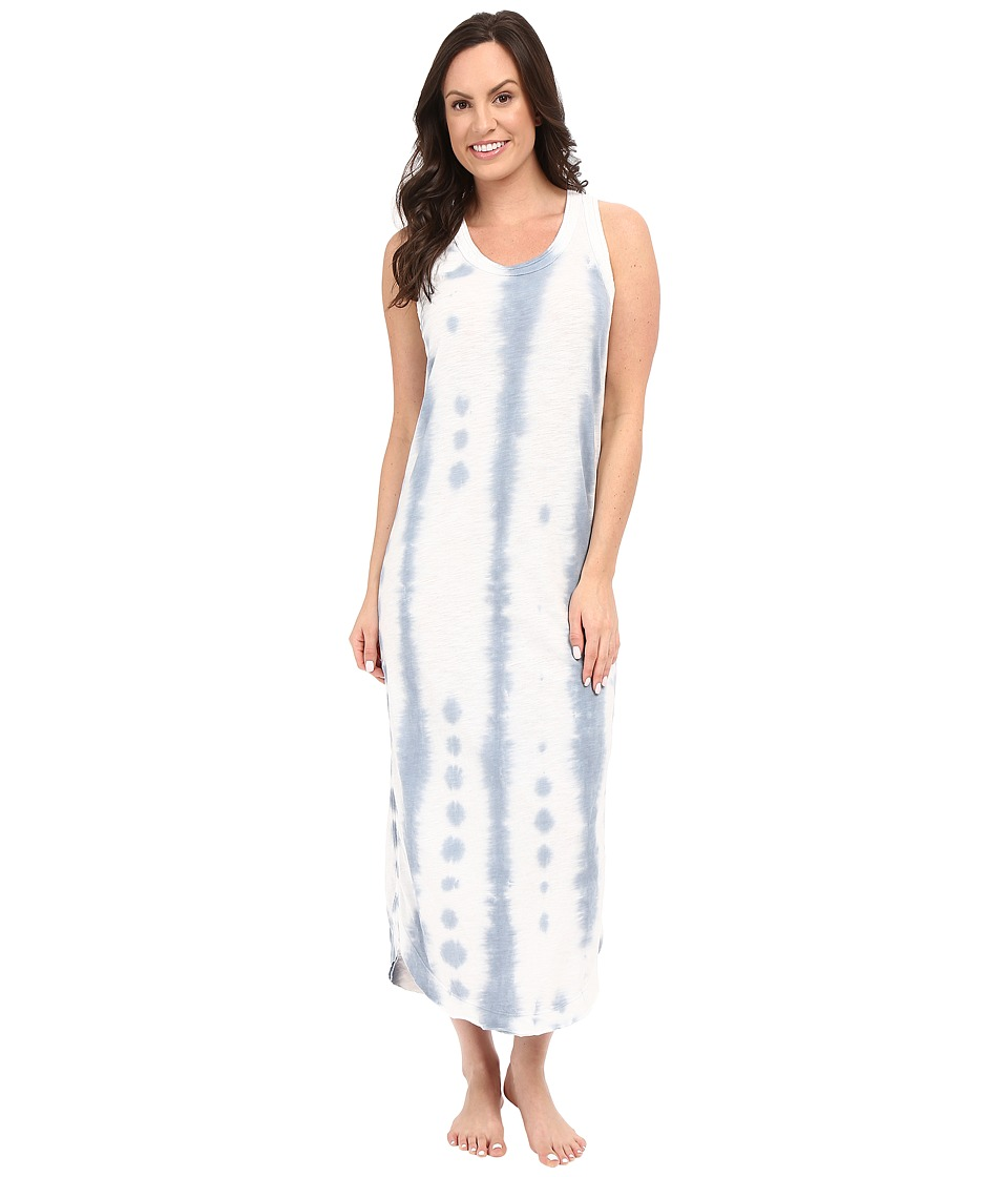 Jane amp Bleecker Slub Maxi Gown 3551158 Blue Womens Pajama